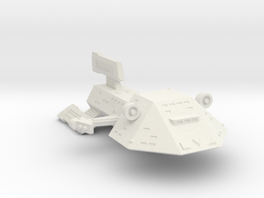 3125 Scale Kzinti Medium Cruiser (CM) SRZ in White Natural Versatile Plastic