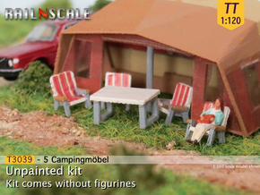 Campingmöbel (TT 1:120) in Smooth Fine Detail Plastic