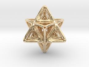 Sacred Merkaba nested in 14k Gold Plated Brass