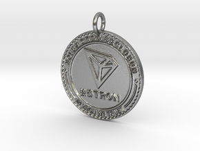 TRON TRX Pendant in Natural Silver