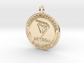 TRON TRX Pendant in 14k Gold Plated Brass