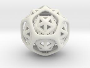 Icosa Dodeca Compound Color in White Natural Versatile Plastic