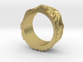 Franklin Ring original in Natural Brass: 5 / 49
