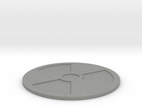 Fallout Radiation Themed Coaster in Gray Professional Plastic