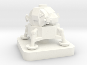 Mini Space Program, Apollo Lunar Lander in White Processed Versatile Plastic