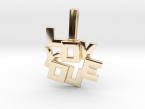 """""""I LOVE YOU"""" Pendant in 14k Gold Plated Brass"""
