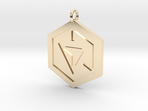 Ingress Pendant in 14k Gold Plated Brass