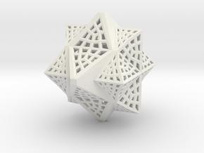 Tetra Cube octa Family Compound in White Natural Versatile Plastic