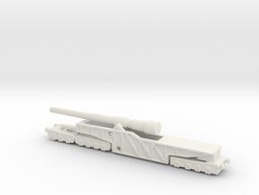 12 inch gun mk 9 railway artillery  1/200 in White Natural Versatile Plastic
