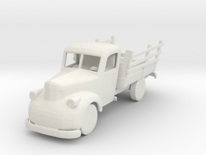 S Scale Old Truck in White Natural Versatile Plastic