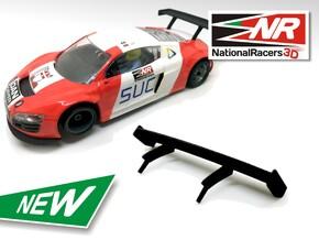 2x 3D Rear wing - NINCO AUDI R8 LMS in Black Natural Versatile Plastic