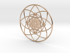 Wiltshire Crop Circle Pendant in 14k Rose Gold Plated Brass
