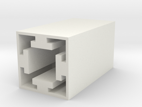 "Tap Guide for 1"" Extruded Aluminum in White Natural Versatile Plastic"