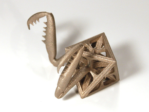 Octa-Mantis in Polished Bronzed Silver Steel