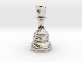 Ferz-Rider (Bishop) - [1,1] Classic in Rhodium Plated Brass