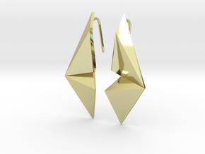 Sharp Enmotion Earrings in 18k Gold Plated Brass