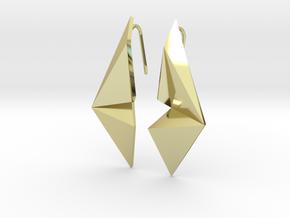 Sharp Enmotion Earrings in 18k Gold Plated Brass