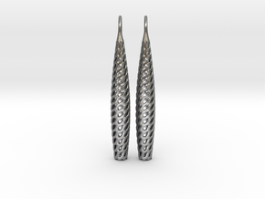 D-STRUCTURA Line Earrings. Structured Chic. in Natural Silver
