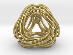 Looped Tetrahedron colored in Natural Brass