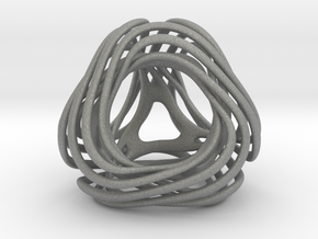 Looped Tetrahedron colored in Gray PA12