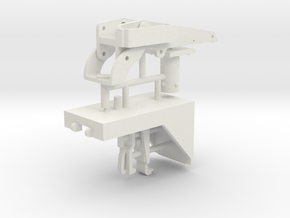 1/6 M2 Browning (50 cal') vehicle mount. in White Natural Versatile Plastic