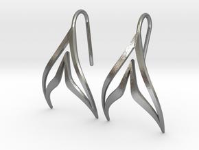 sWINGS Sharp Earrings in Natural Silver