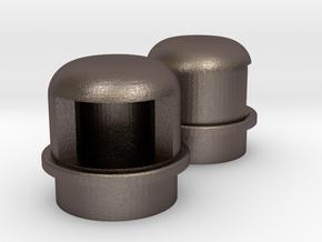 Navigation light Wellcraft SC38 Metal in Polished Bronzed-Silver Steel: 1:10