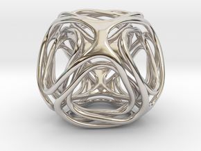 Twisted looped Octahedron in Platinum