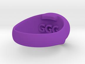 Made-to-Order Mens Rings - Eye of Horus in Purple Processed Versatile Plastic