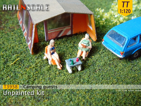 Camping guests and accessories - kit A (TT 1:120) in Smooth Fine Detail Plastic