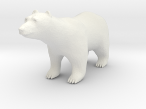 S Scale Polar Bear in White Natural Versatile Plastic