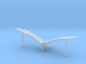 HO Scale Eagle with supports in Smooth Fine Detail Plastic