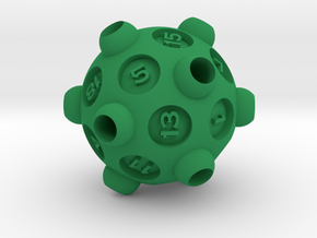 "D20 ""Drained"" in Green Processed Versatile Plastic"
