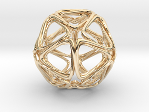 Icosahedron Looped  in 14K Yellow Gold