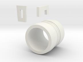 Haruko Bracelet FLCL in White Natural Versatile Plastic