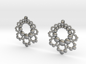 D Apo. Earrings in Natural Silver