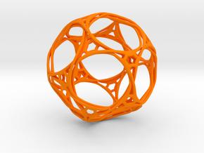 Looped docecahedron in Orange Processed Versatile Plastic