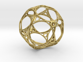 Looped docecahedron in Natural Brass