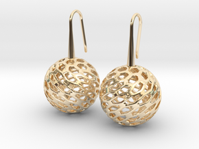 HONEYCANE Earrings in 14K Yellow Gold