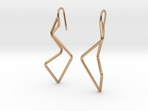A-LINE Enmotion, Earrings in Polished Bronze