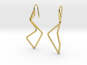 A-LINE Enmotion, Earrings in Polished Brass