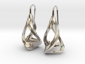 Trianon T.1, Earrings in Rhodium Plated Brass