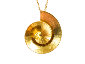 Theodorus Pendant in Natural Brass