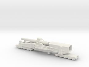 28 cm SKL / 40 (E) Railway artillery Bruno 1/144  in White Natural Versatile Plastic