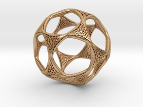 Perforated Twisted Dodecahedron in Natural Bronze