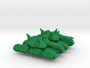 Cossack Super Heavy Tracked Armor - 3mm in Green Processed Versatile Plastic