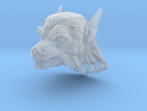werewolf head 1 in Smooth Fine Detail Plastic