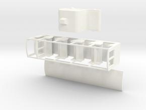 Ramsgate Tunnel Rlwy 009 Motor Coach in White Processed Versatile Plastic