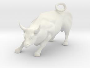 O Scale Bull in White Natural Versatile Plastic