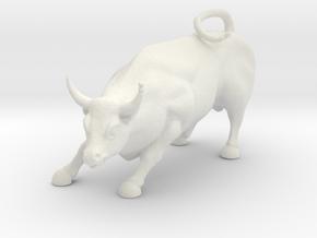 HO Scale Bull in White Natural Versatile Plastic